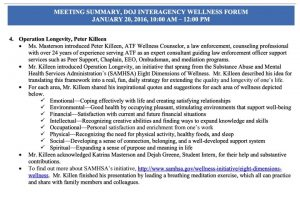Wellness Meeting Summary